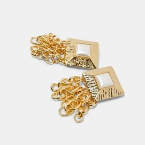 NWT Zara Golden Chain Earrings